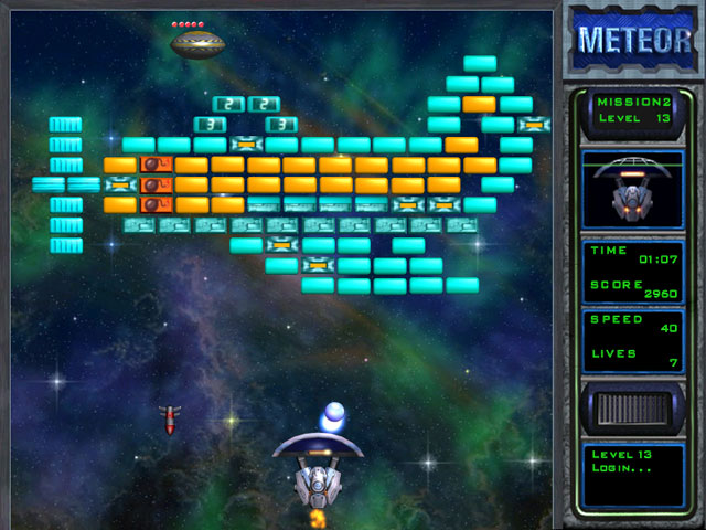 Meteor game meteor free download funny arts evil enemy robots guard bricks so do not forget to evade bombs and bullets while trying to destroy bricks you can protect yourself from solutioingenieria Gallery